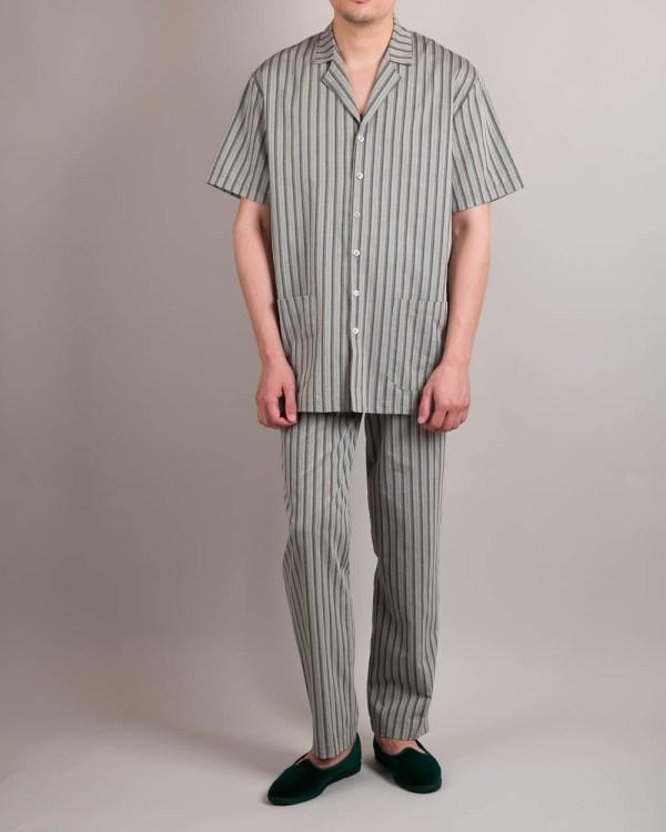 Short Sleeve Grey Pajamas Front