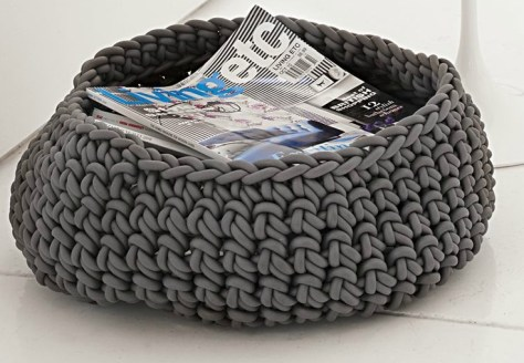 Crochet rubber basket from Design Within Reach #DIY