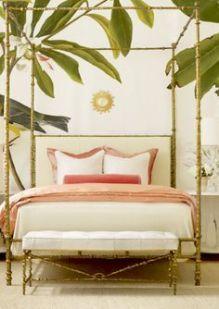 Chambre à la déco tropicale