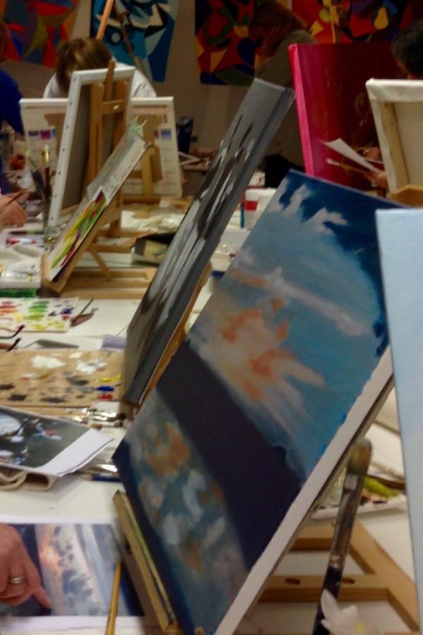 Cours de peinture : chevalets