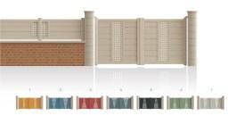 Modèle PassyPortail 1/4 ajouré au centre 3/4 plein traverse verticale de forme symétrique • Barreaudage horizontal ou vertical • Remplissage design horizontal ou vertical