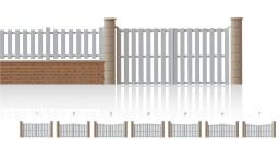 Modèle TuileriesPortail ajouré • Barreaudage vertical