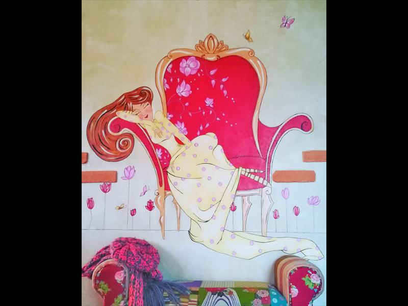 fresque-salon-detente-fauteuil-voltaire-peinture-artiste
