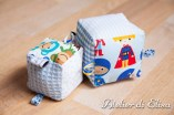 Cubi di stoffa / Baby soft block with ribbon