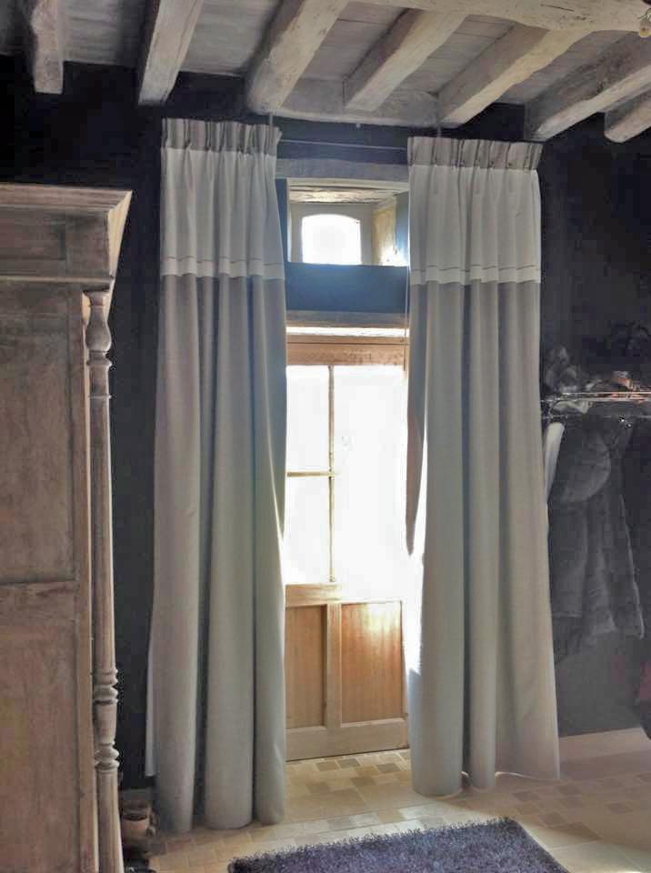 double rideaux pour porte d entree