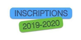 INSCRIPTION 2019 – 2020