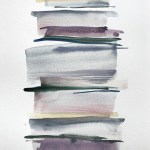 Stacks 10_Watercolour painting pastel coloured stripes that look like piled up books