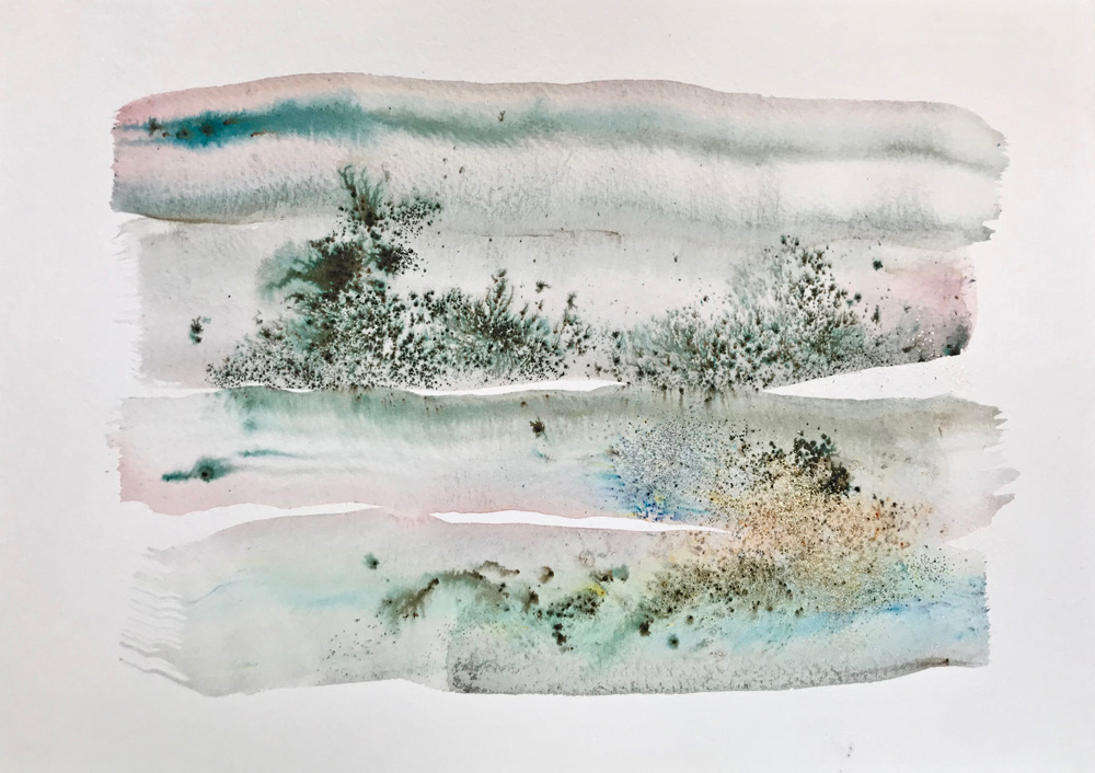 Little Landscape 1 Abstract watercolor painting on paper buy watercolor art