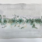 Little Landscape 7 Abstract watercolor painting on paper minimal art