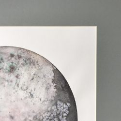 Detail of Large Watercolor Moon painting - Super Moon