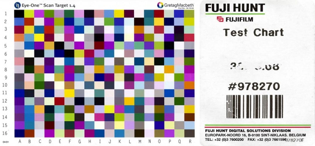 Eye-One Scan Target 1.4 Gretag Macbeth Part No: 36.78.68 Fujifilm Fuji Hunt Test Chart #978270