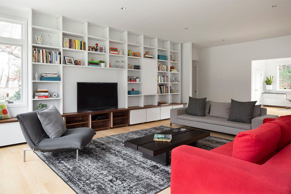 Mid-Century Modern Renovation living room