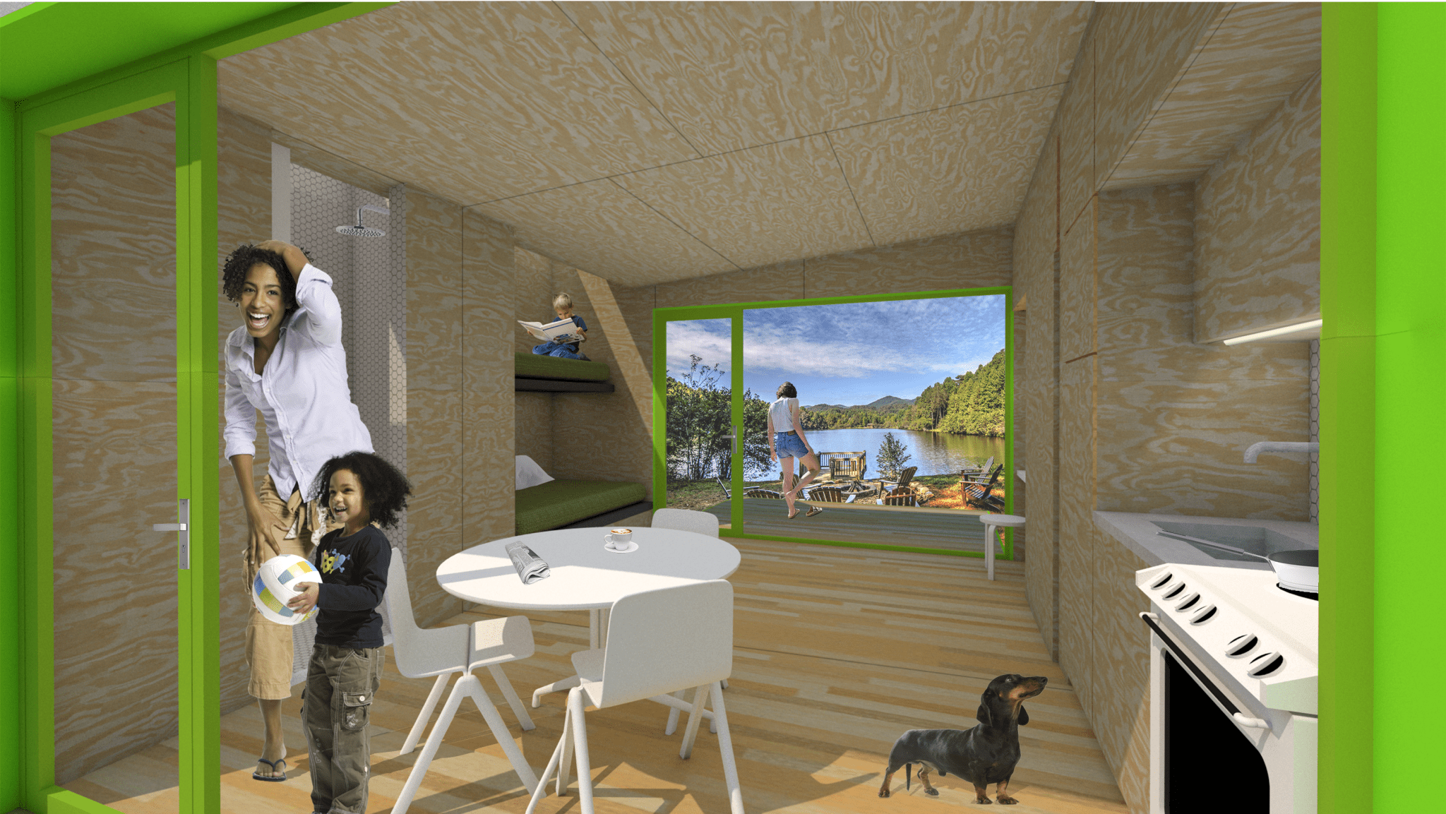 Mobile Tiny House concept rendering