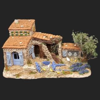 décors de crèche- santons- Atelier de Fanny – Aubagne – cabanon de Giboulin.jpg