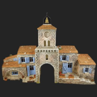 Maison de village ensemble mv4 mv7 campanille de Provence – Atelier de Fanny – Santon – Santons – Décors de crèche – Aubagne – Provence – Crèche de Provence – Santon de provence.jpg