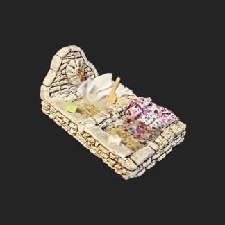 lavoir long – Aubagne -provence – santon de provence -santon – décors de provence – décors de crèche – crèches de Provence- accessoire de Provence -artisan – made in france – france