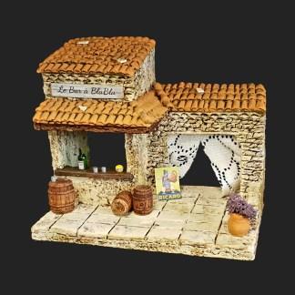 Bar à blabla en Provence – atelier de Fanny – Aubagne -provence – santon de provence -santon – décors de provence – décors de crèche – crèches de Provence- accessoire de Provence -artisan – made in france – france 3