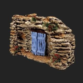 atelier de Fanny – Aubagne -provence – santon de provence -santon – décors de provence – décors de crèche – crèches de Provence- accessoire de Provence -artisan – made in france – mur avec porte de provence