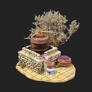 atelier de Fanny – Aubagne -provence – santon de provence -santon – décors de provence – décors de crèche – crèches de Provence- accessoire de Provence -artisan – made in france – pressoir à Raisin de provence