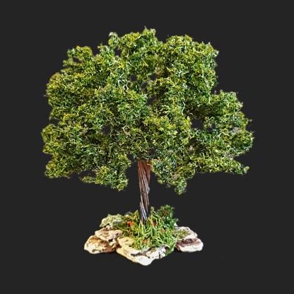 arbre 15 cm vert foncé pour votre décor de crèche