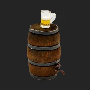tonneau de bière pour votre décor de crèche
