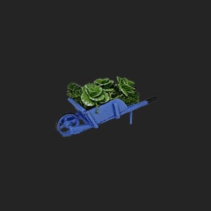 brouette de choux vert provence pour votre décor de crèche