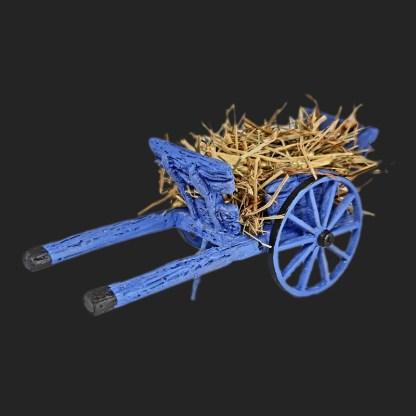 charrette de foin de provence pour votre décor de crèche