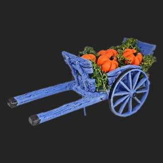 charrette avec courges de provence pour votre décor de crèche
