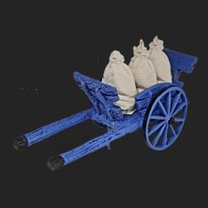 Charrette du meunier avec ses sacs de farine de provence