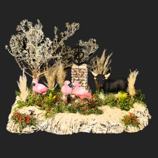 scénette de camargue – camargue – – santon de provence -santon – décors de provence – décors de crèche – crèches de Provence- accessoire de Provence -artisan – made in france – france