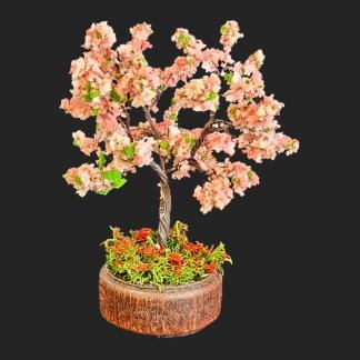 arbre cerisier en fleurs 11 cm Aubagne -provence – santon de provence -santon – décors de provence – décors de crèche – crèches de Provence- accessoire de Provence -artisan – made in france – france