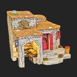 La Maison du Cassoulet – atelier de fanny – décors de crèche – aubagne – santons 7 cm