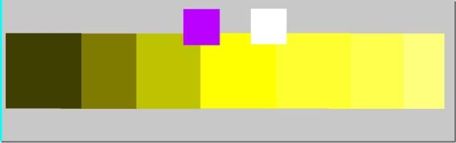Mélange jaune foncé au clair