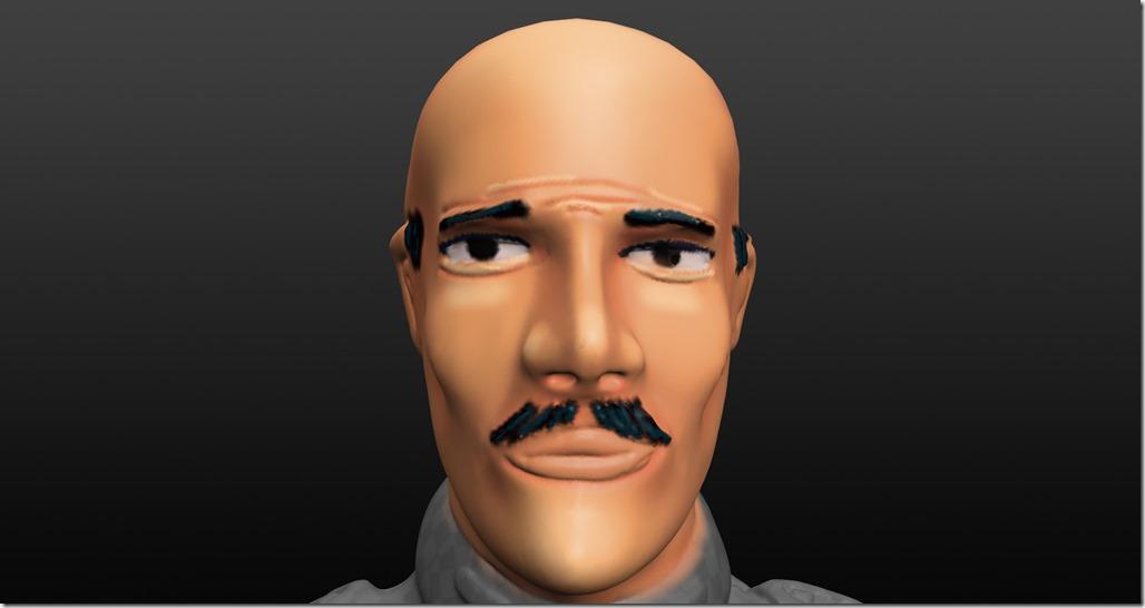 Peinture du visage pour figurine 28 mm