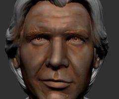Peinture figurine: le visage