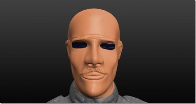A ne pas faire: peinture des yeux d'une figurine contour