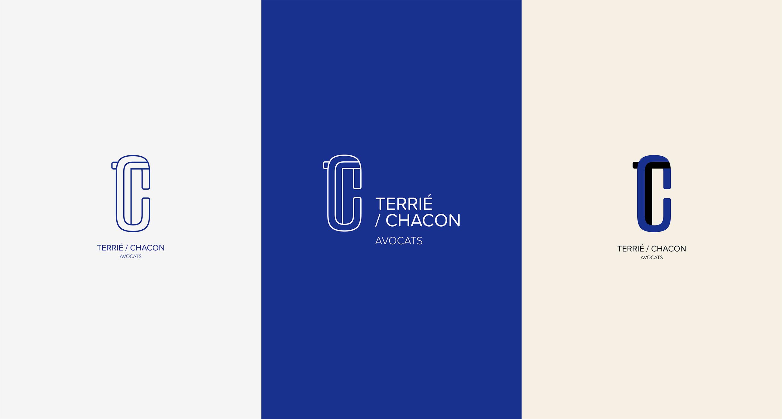 Déclinaisons couleur du logo TC avocats