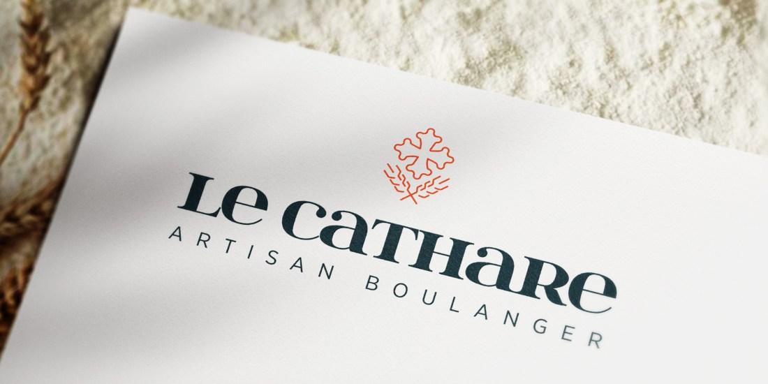 Création du logo de la boulangerie Le Cathare