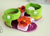 sandale-crosetate din bumac