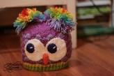 rainbow Owl Shells Beanie