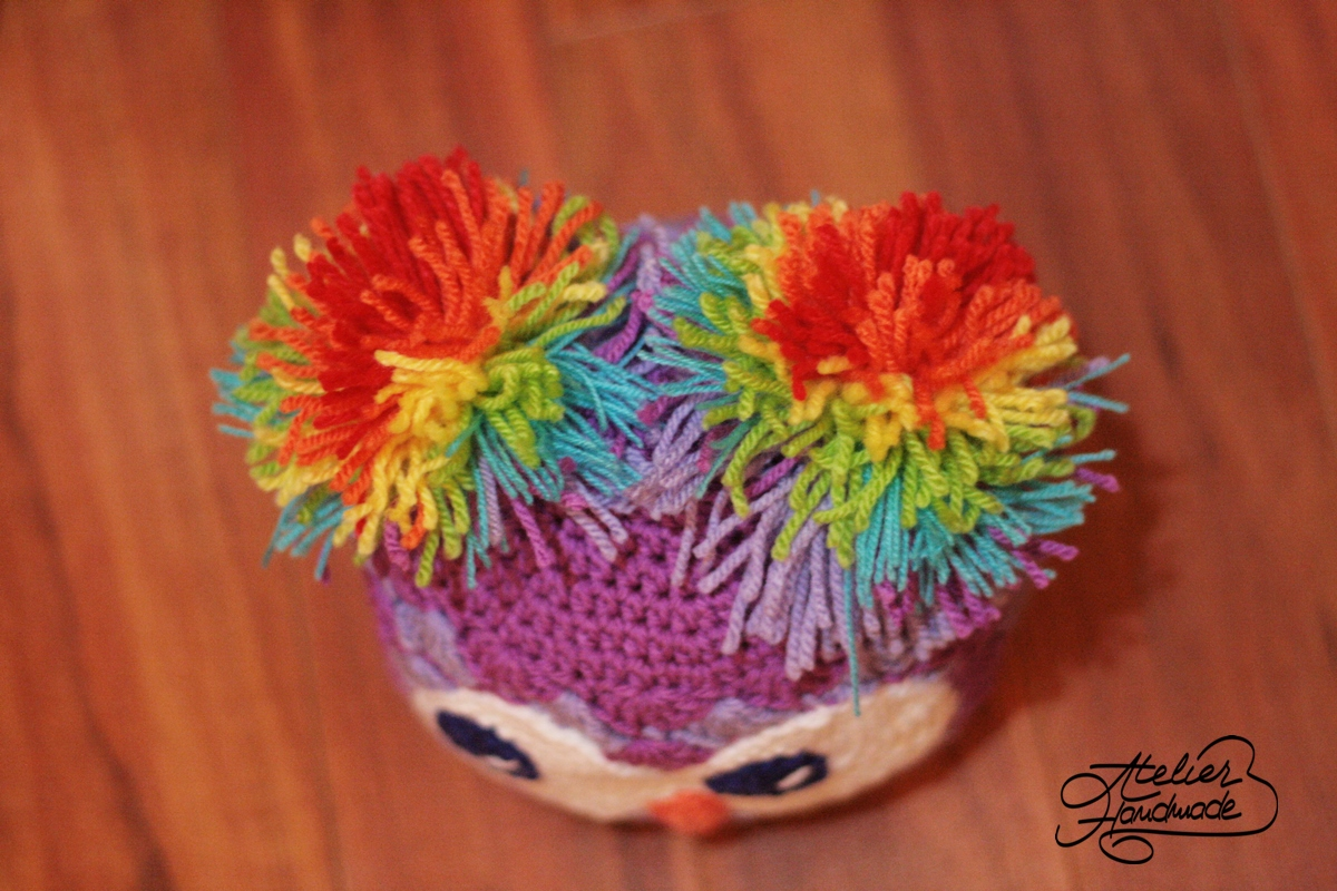 Pattern Owl Shells Beanie Crochet