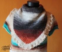 cea mai simpla esarfa tricotata