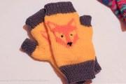 mitene-tricotate cu vulpe