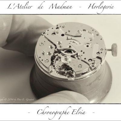 """La partie """"montre"""" fonctionne bien. Les axes sont huilés et l'ancre et la roue d'échappement ont reçu un traitement à l'épilame."""