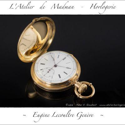 Montre de gousset chronographe Eugène Lecoultre Genève, photo finale.
