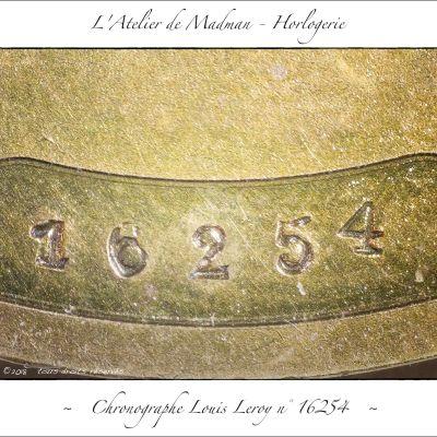 N°16254, frappé sur la platine.