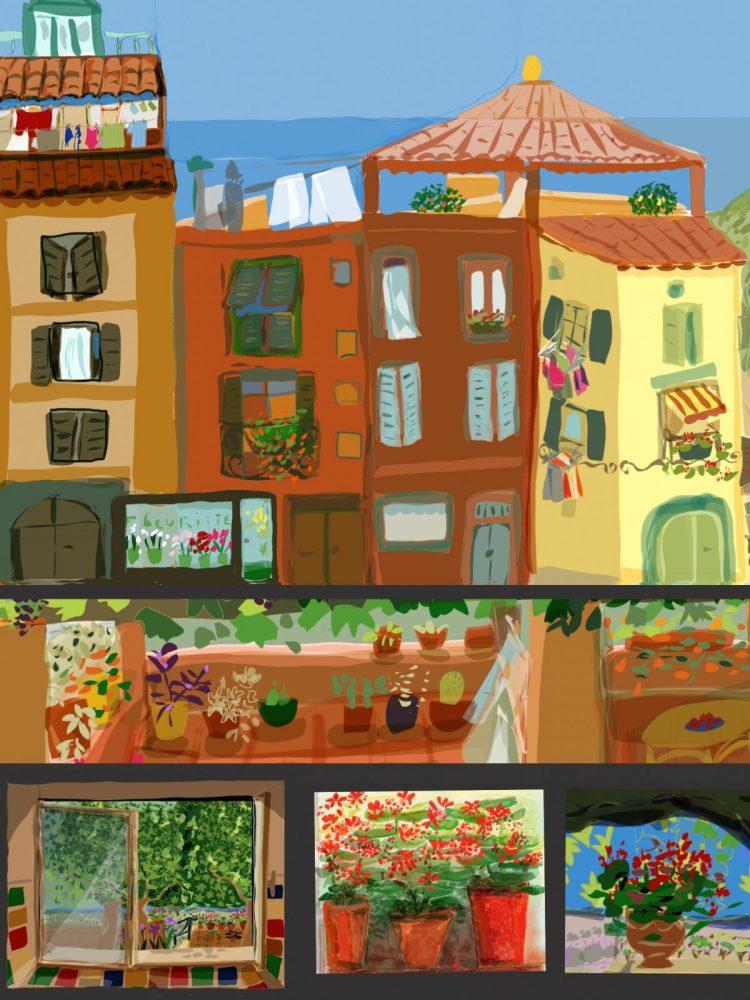 carte postale de créateur Agde