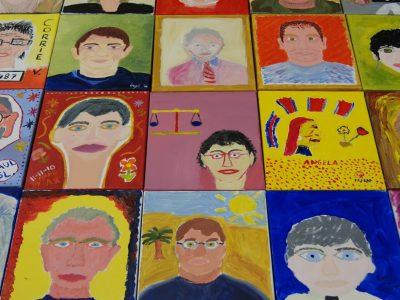 Zelfportret schilderen Rechtbank Den Haag5