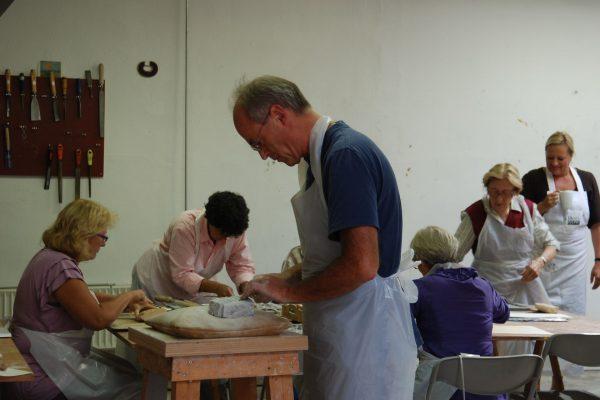 beeldhouwen en schilderen, natuurvereniging KNNV 1-2
