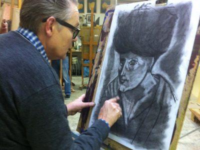 portrettekenen met houtskool